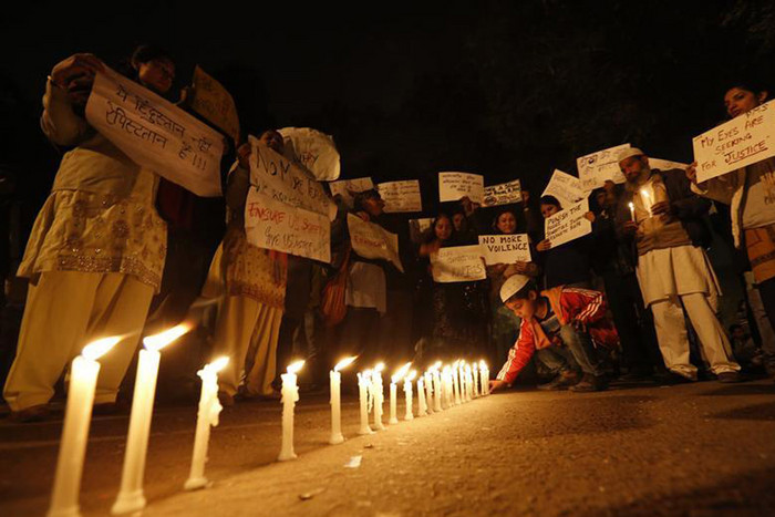 Vigils for the 23-year-old gang rape victim are continuing in New Delhi (Reuters)