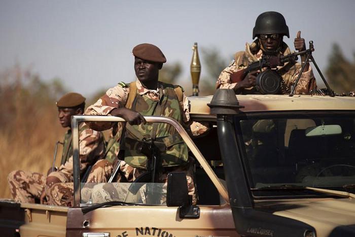 Malian soldiers in Bamako (Reuters)