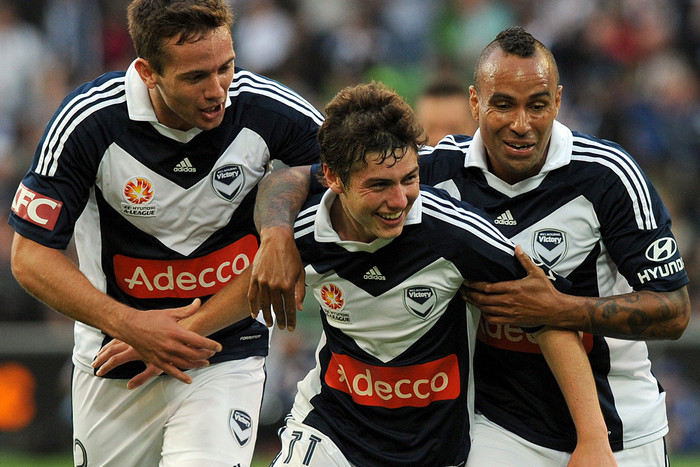 Melbourne Victory's Marco Rojas has his chance to impress two of Europe's big clubs (AAP file)