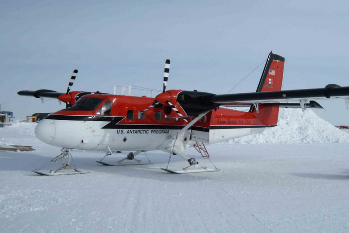 A file picture of a Kenn Borek Air Twin Otter in Antarctica