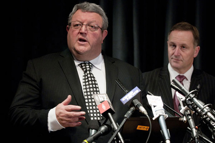 Earthquake Recovery Minister Gerry Brownlee and Prime Minister John Key