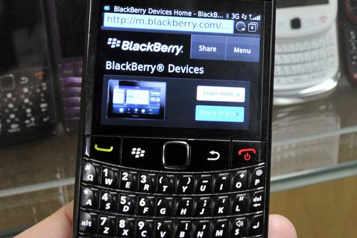 A BlackBerry phone (Reuters)