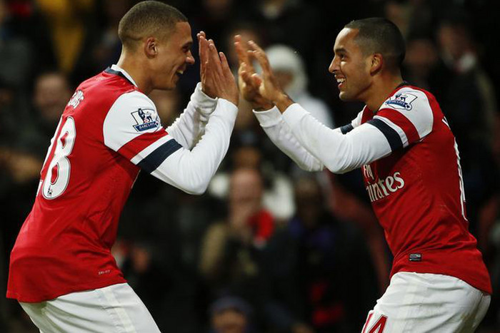 Will it be high fives all round for Theo Walcott and the crew after 90 minutes? (Reuters file)
