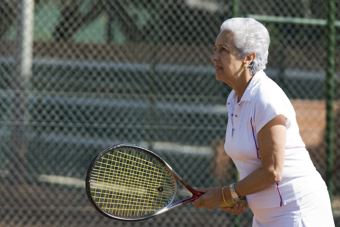 Tennis, shopping, brisk walks and gold are all examples of good exercise (file)