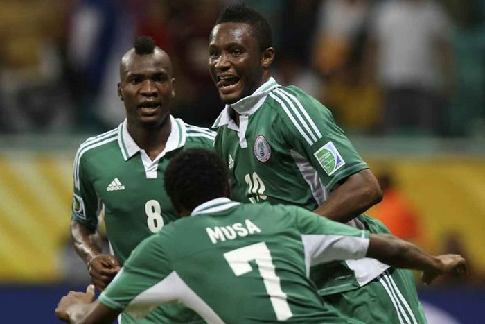John Obi Mikel celebrates a goal with his teammates (Reuters file)