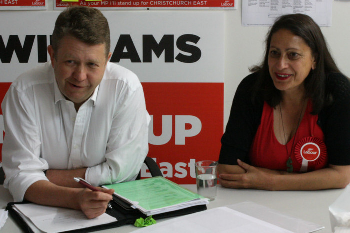 Labour leader David Cunliffe (L) says Ms Williams will make an excellent MP (Photo: 3 News/Thomas Mead)