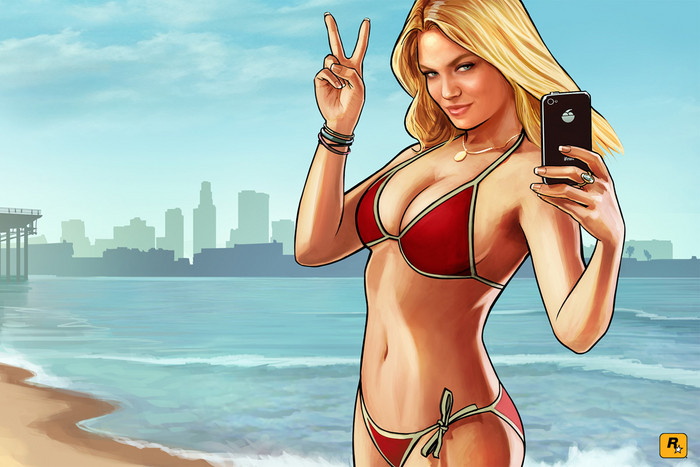 Grand Theft Auto V promotional art