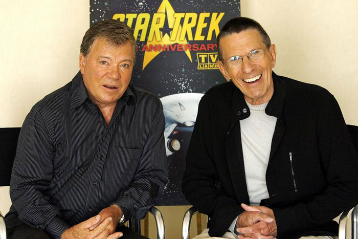 Star Trek actors William Shatner (L) and Leonard Nimoy (Reuters/file)