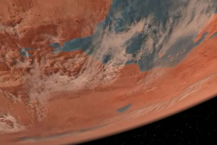 The planet Vulcan, as seen in a Star Trek television episode