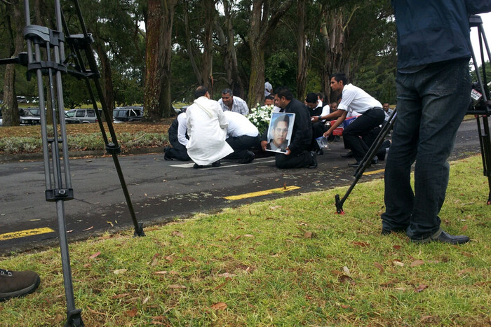 Mr Prasad's body was found by a person walking their dog early on Thursday morning in Kingseat, Auckland (Photo: Sanele Chadwick/3 News)