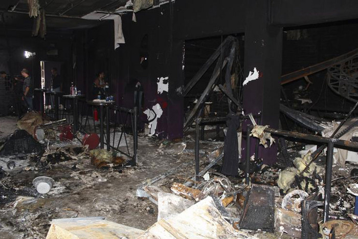 A view of the Boate Kiss nightclub after the fire (Reuters)