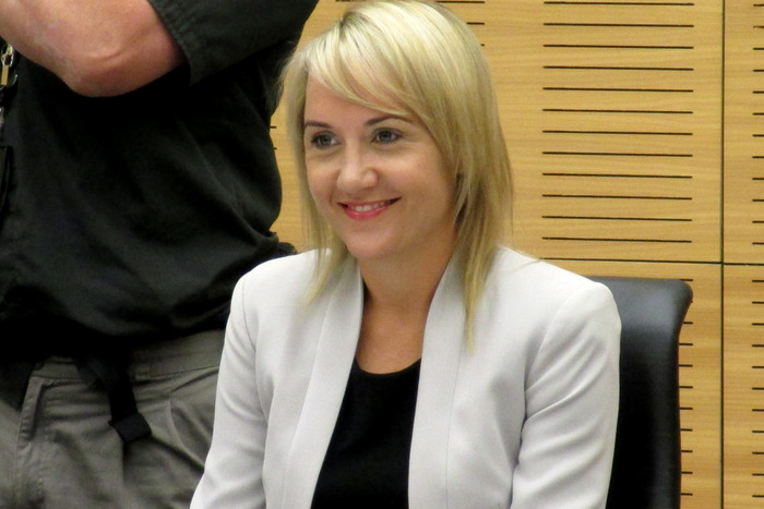 Nikki Kaye in Cabinet today