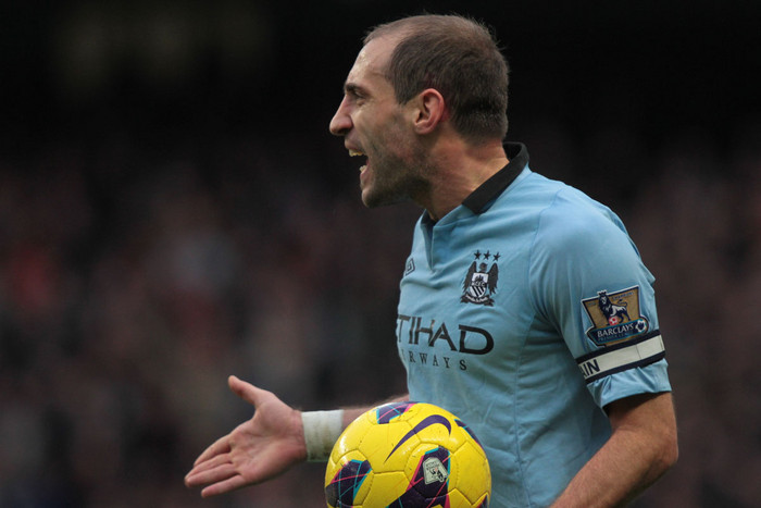 The heat is well and truly on Pablo Zabaleta and Manchester City (AAP file)