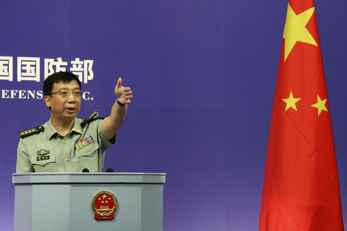 China's Defense Ministry spokesman Geng Yansheng (Reuters)