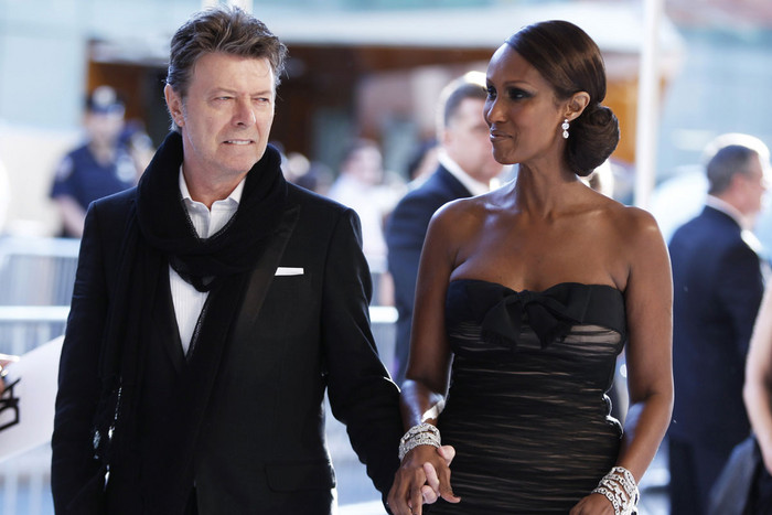 David Bowie with wife Iman (Reuters)