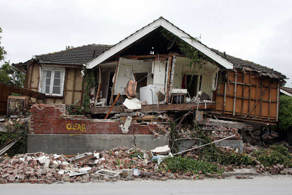 A house in Avonside damaged by the 2011 quake