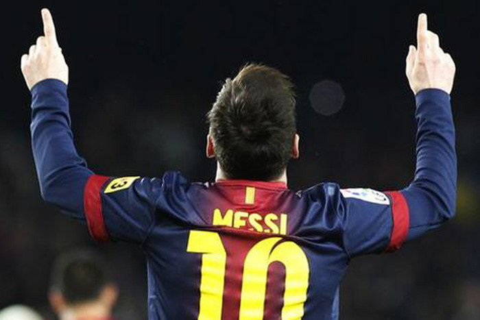 Barcelona's Lionel Messi topped the list of top footballers (Reuters file)