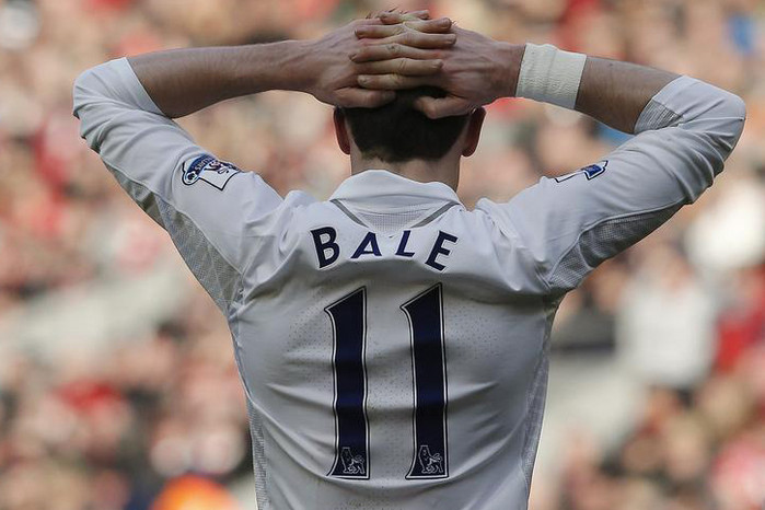 These shoulders carry a lot of hopes… Tottenham Hotspur's Gareth Bale (Reuters file)