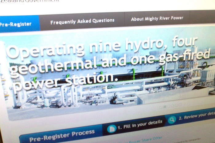 The Mighty River Power shares pre-registration website