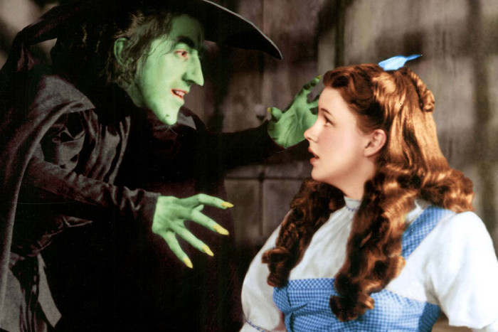 The Wicked Witch of the West threatens Dorothy