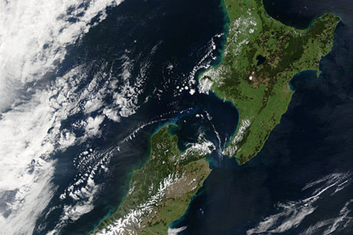 New Zealand seen from space  (Photo: NASA)