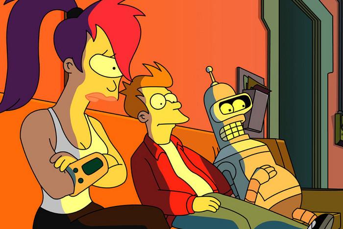 Leela, Fry and Bender