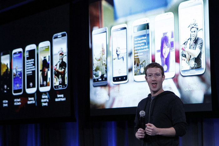 Mark Zuckerberg introduces 'Home' a Facebook app suite that integrates with Android (Reuters)