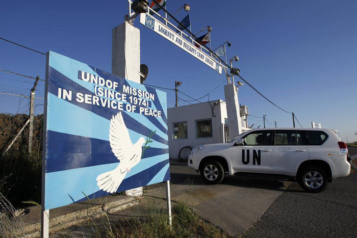 The peacekeeper was abducted from an observation post on the Golan Heights (Reuters)