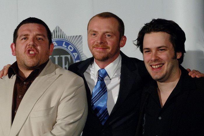 Nick Frost, Simon Pegg and Edgar Wright (Reuters)