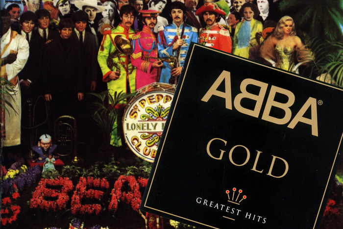 The Beatles' Sgt Pepper's cover, with Abba's Gold