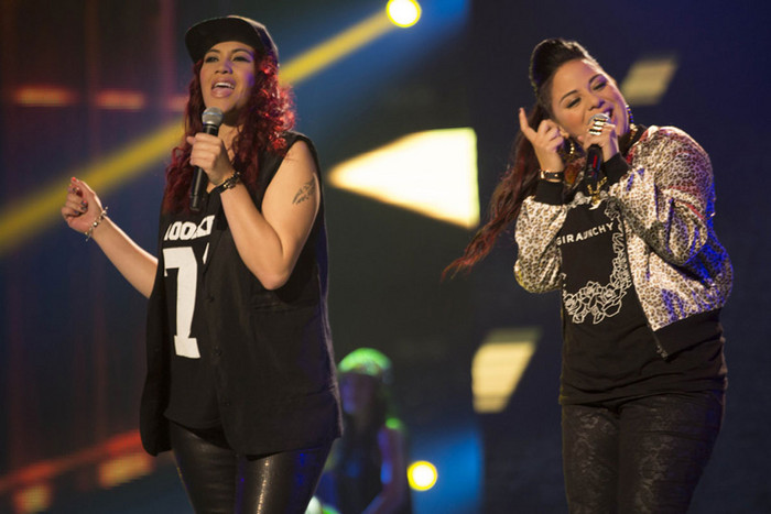 L.O.V.E perform 'How Bizarre' (Photo: The X Factor NZ)