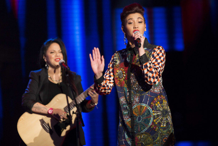 L.O.V.E performed TLC's 'No Scrubs', but it wasn't enough to keep them on the show (Photo: X Factor NZ)