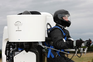 The New Zealand-made Martin jetpack has been cleared to carry a person (file)
