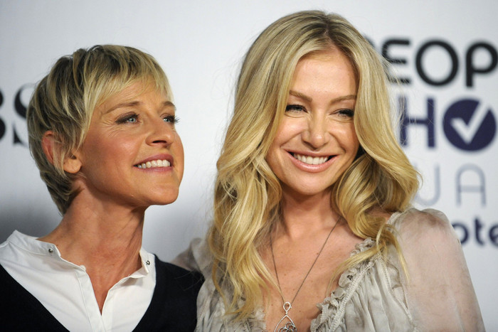 Ellen Degeneres and Portia de Rossi (Reuters)
