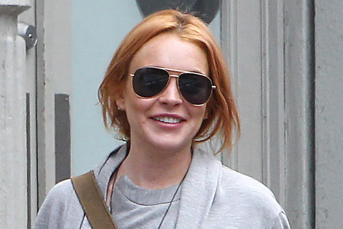 Lindsay Lohan in New York earlier this month (AAP)