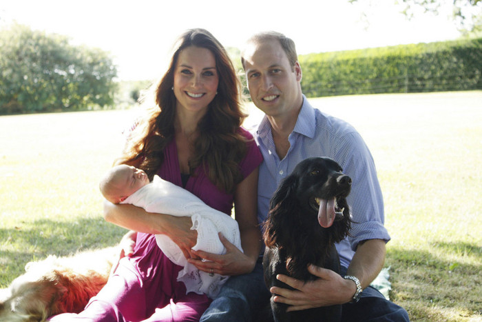The royal family said the christening would be a private affair (AAP)