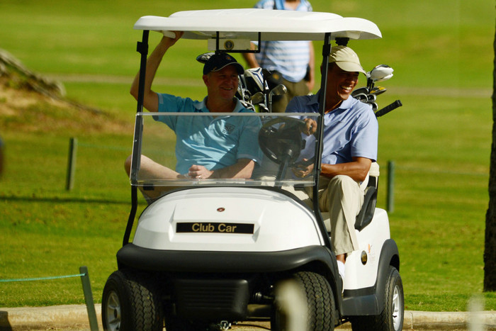 Key and Obama play golf (AAP)