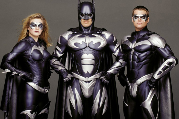 Batman & Robin stars George Clooney, Alicia Silverstone and Chris O'Donnell
