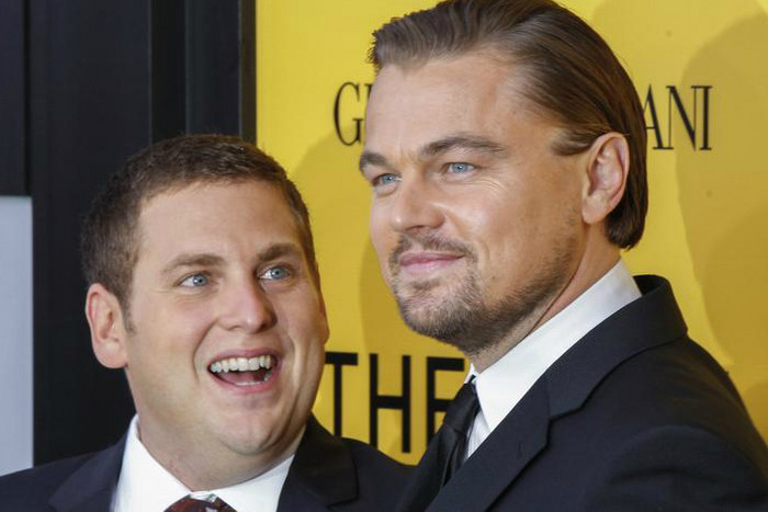 Jonah Hill and co-star Leonardo DiCaprio (Reuters file)