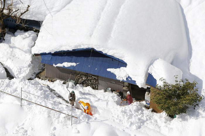 Snow was particularly heavy in Japan this winter (Reuters)