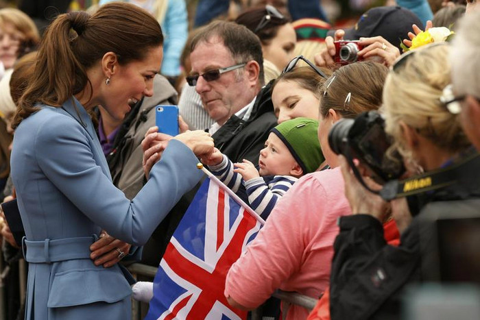 Kate meets the public during the public walk in Blenheim (Reuters)