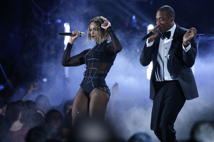 Jay Z and Beyonce Knowles performing together (Reuters)