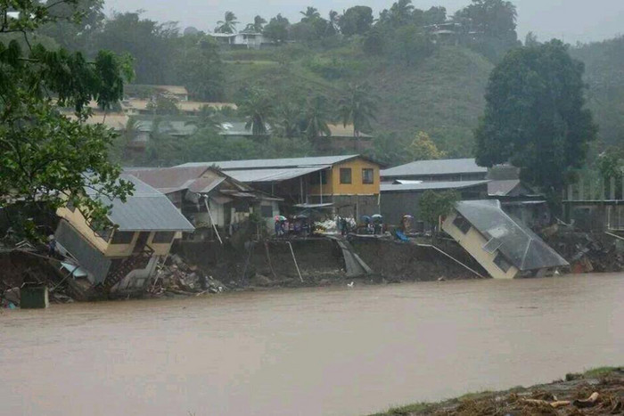 At least 16 people are dead after flash flooding in the Solomon Islands yesterday (Photo: @UrbanGateway/Twitter)