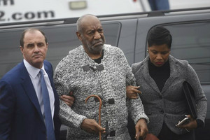 Bill Cosby arrives with his attorney at the Montgomery County Courthouse in Pennsylvania (Reuters)