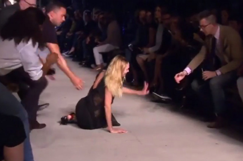 Candice Swanepoel after her nasty fall