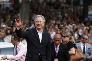 Rickman arrives for the premiere of the film Harry Potter and the Deathly Hallows: Part 2 in New York (Reuters)