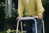 An elderly man stands against ageism. (file)