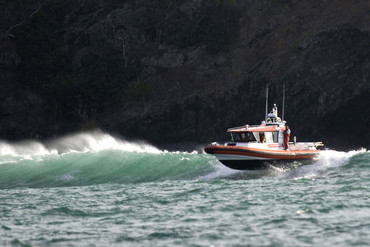 A Coastguard rescue boat (file)