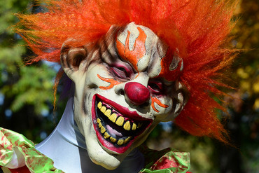 It's the latest in a series of clown sightings sweeping the US and Europe (Getty file)