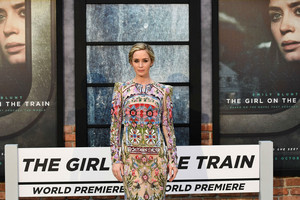 Emily Blunt at the premiere of The Girl on the Train (Reuters)